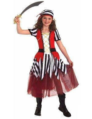 Pretty Striped Pirate Girls Book Week Costume
