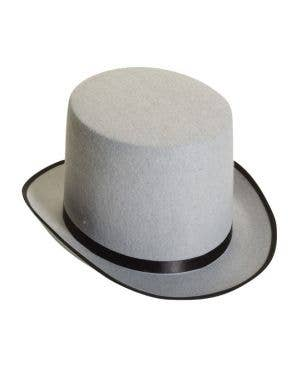 Novelty Tall Grey Feltex Top Hat Costume Accessory