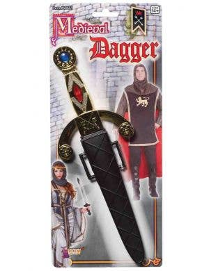 Medieval Dagger And Sheath Costume Weapon