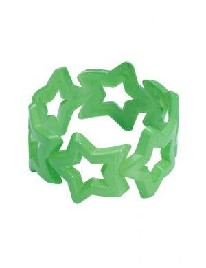 80's Chunky Thick Green Retro Bangle Costume Accessory