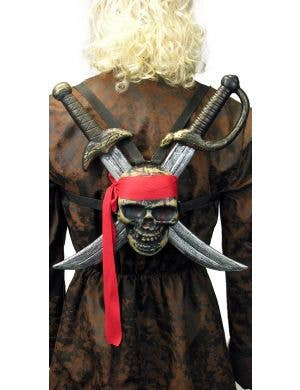 Skull Pirate Cutlass Adults Wearable Weapon Pack Costume Accessory
