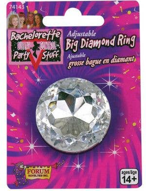 Bachelorette Novelty Giant Diamond Ring Accessory
