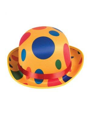 Yellow Polka Dot Circus Clown Costume Hat Accessory