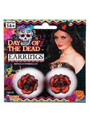 Womens Sexy Senorita Red Rose Day Of The Dead Costume Jewellery