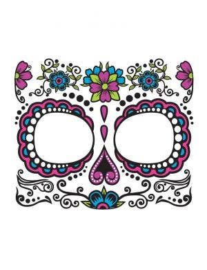 Pink Sugar Skull Day of The Dead Tattoo Makeup