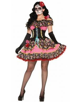 Sexy Day of The Dead Senorita Women's Costume Main Image