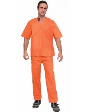 Prisoner Suit Orange Men's Uniform Costume