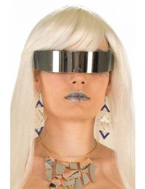 Lady Gaga Futuristic Space Mirror Glasses Accessory