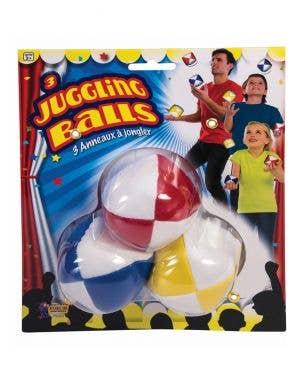Coloured Novelty Clown Juggling Balls