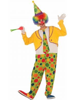 Men's Colourful Spotty Clown Costume Image 1