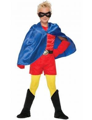 Superhero Kid's Blue Cape Costume Accessory