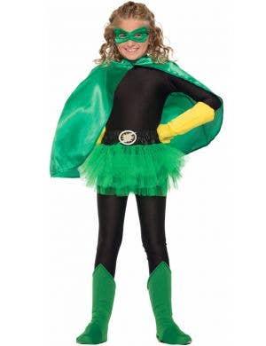 Superhero Kid's Green Cape Costume Accessory