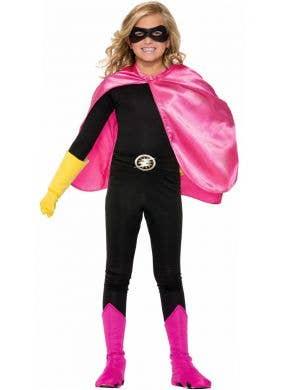Superhero Kid's Pink Cape Costume Accessory