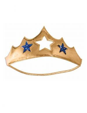 Gold Plush Wonder Woman Costume Accessory Tiara