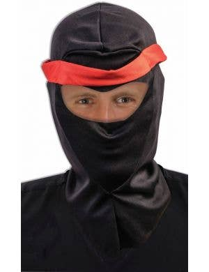 Red and Black Ninja Hood Costume Accessory