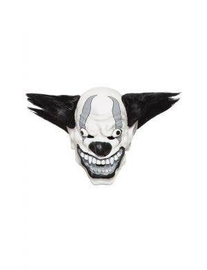 Evil Black And White Bezerk Latex Clown Mask