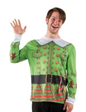 Faux Real Funny Christmas Elf Costume Top