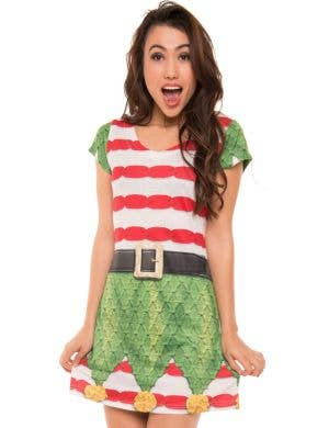 Faux Real Gingerbread Man Womens Christmas Costume Dress - Main Image