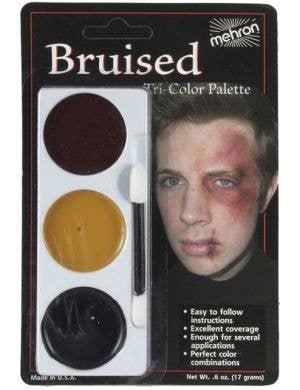 Mehron 3 Colour Bruise Makeup Palette Halloween Special Effects