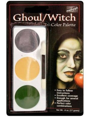 3 Colour Mehron Ghoul/Witch Face Paint Makeup Palette