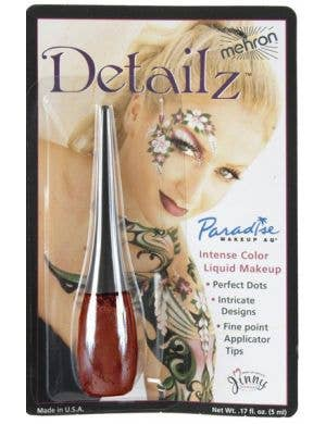 Dark Red Professional Quality Liquid Makeup Package View