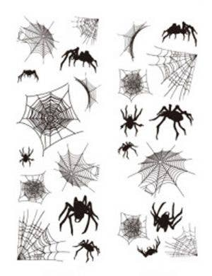 Spider webs and Spiders Halloween Wall Sticker Decorations