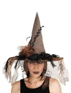 Brown Vintage Wicked Witch Halloween Costume Hat
