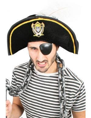 Adult's Colonial Style Pirate Costume Hat