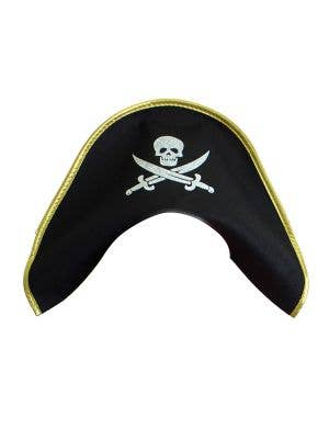 Colonial Style Adult's Black Pirate Costume Hat