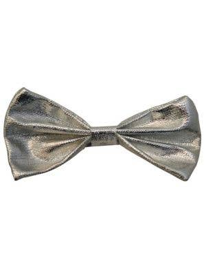 Novelty Silver Bow Tie Costume Accessory