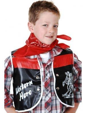 Western Hero Boys Cowboy Vest and Bandana Set