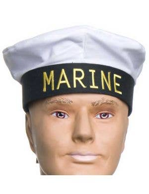 Marine Sailor Black Costume Hat