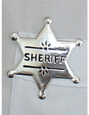 Cowboy Sheriff Badge Costume Accessory