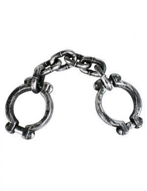 Metal Look Silver Wrist Shackles