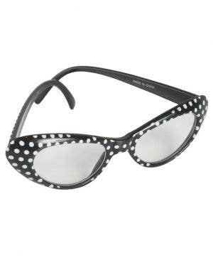 1950's Polka Dot Costume Glasses - Black