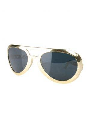Adult's Elvis Costume Jumbo Gold Novelty Sunglasses