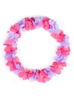 Purple and Pink Hawaiian Flower Lei