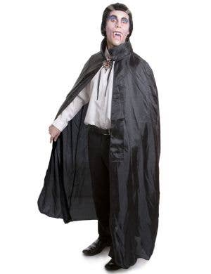 Adult's Black Vampire Halloween Cape with Collar
