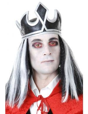 Vampire King Latex Crown with Hair