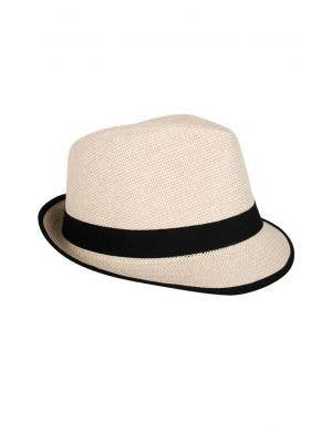 Cream Woven Straw Adult's Trilby Hat