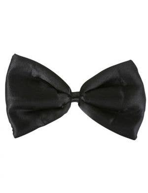 Gentleman's Black Satin Costume Bow Tie