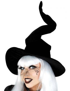 Wired Black Velvet Witch Costume Hat