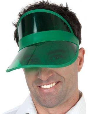1980's Green Poker Visor Costume Accessory