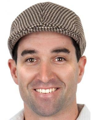 1940's Men's Brown Flat Cap Costume Accessory Hat