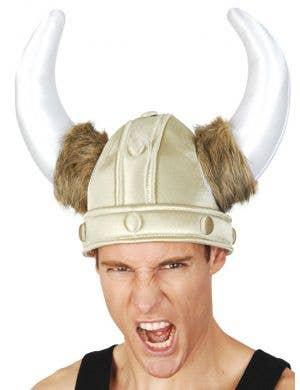 Nordic Warrior Plush Viking Costume Helmet