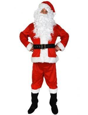 Joyful Velvet Santa Suit Men's Costume