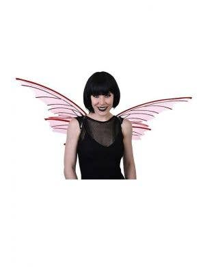 Red Glitter Wide Devil Halloween Costume Accessory Wings