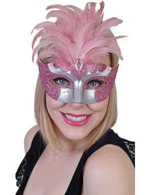 Gabrielle Women's Pink Masquerade Mask
