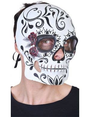 Day of the Dead Men's Mexican Masquerade Mask - White