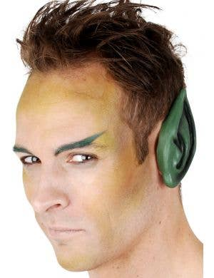 Large Green Latex Pointed Ears Costume Accessory